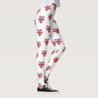 Women's Leggings-British Heart Leggings