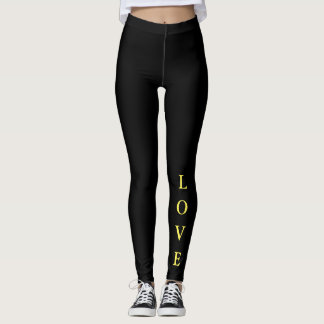 Womens Leggings-Love Leggings