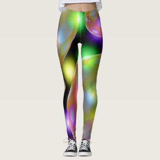 "Womens Leggings ""Magic"" Pastel Glowing Orbs"