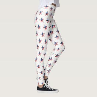 Women's Leggings-Patriotic Stars Leggings