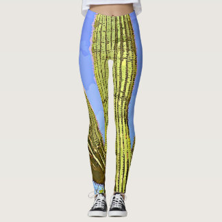 Women's Leggings - Saguaro Arms in Cartoon