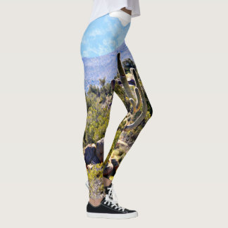 "Women's Leggings ""Saguaro in Mountains"""