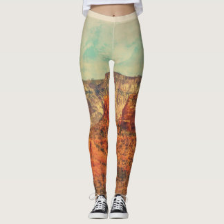 "Women's Leggings - ""Sedona in Grunge"""