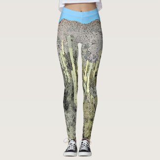 "Women's Leggings ""Tonto Saguaro in Cartoon"""