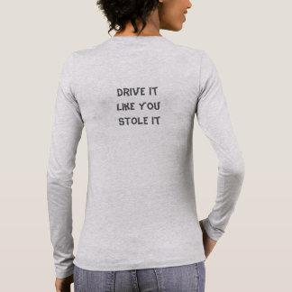 Women's Long Sleeve T-shirt, Grey, Drive It Long Sleeve T-Shirt