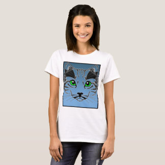 Women's Love Cat Pet Lover Basic T-Shirt for Gift