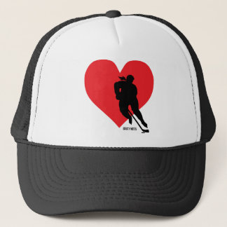Women's Love Heart Hockey Cap Lid