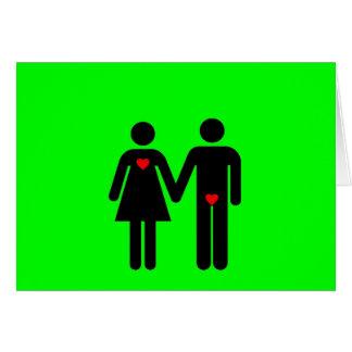 Womens love vs mens love joke humour greeting card