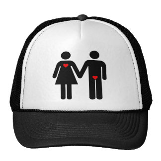 Womens love vs mens love joke humour mesh hat