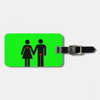 Womens love vs mens love joke humour travel bag tags