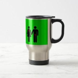 Womens love vs mens love joke humour coffee mug