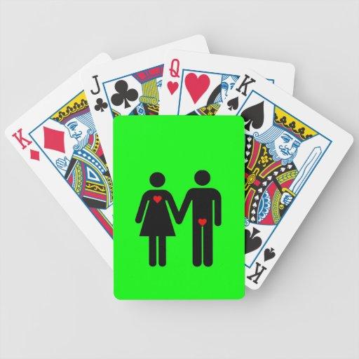 Womens love vs mens love joke humour bicycle card decks