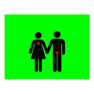 Womens love vs mens love joke humour post card