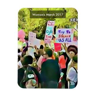 Women's March 2017 Anti Trump Agenda Protest Rectangular Photo Magnet