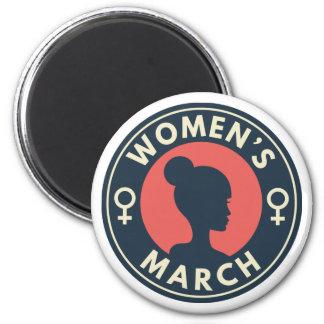 Women's March 6 Cm Round Magnet
