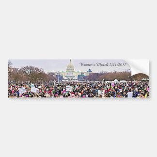 Women's March Anti-Trump Protest in Washington DC Bumper Sticker