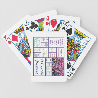 Women's March Bicycle Playing Cards