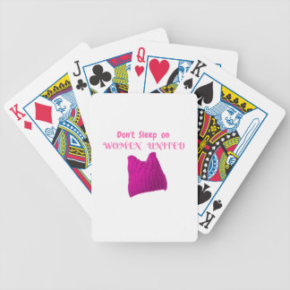 WOMEN'S MARCH DON'T SLEEP ON WOMEN UNITED BICYCLE PLAYING CARDS