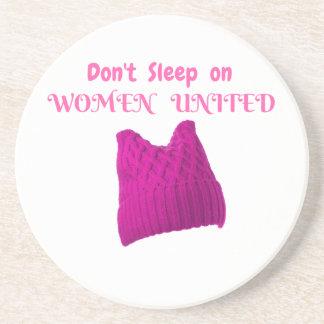 WOMEN'S MARCH DON'T SLEEP ON WOMEN UNITED DRINK COASTER