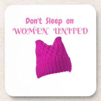 WOMEN'S MARCH DON'T SLEEP ON WOMEN UNITED DRINK COASTERS