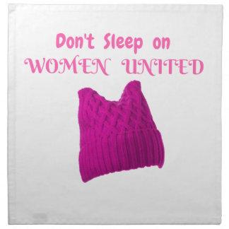 WOMEN'S MARCH DON'T SLEEP ON WOMEN UNITED NAPKIN