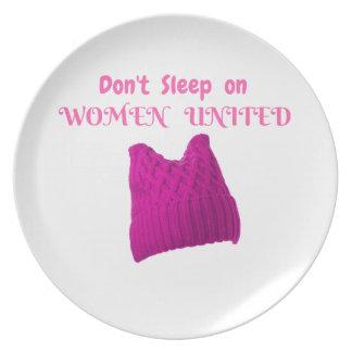 WOMEN'S MARCH DON'T SLEEP ON WOMEN UNITED PLATE