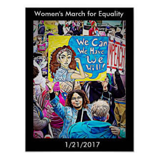 Women's March for Equality Poster