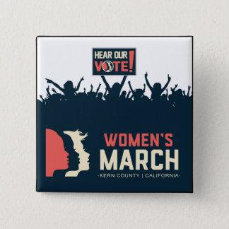 Women's March Kern Button II