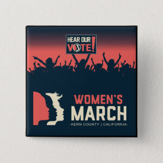 Women's March Kern Square Button