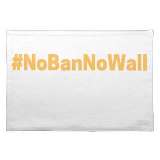 Women's March #NoBanNoWall Place Mats
