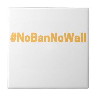 Women's March #NoBanNoWall Tile