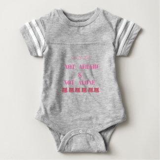 WOMEN'S MARCH NOT ALONE & NOT AFRAID BABY BODYSUIT