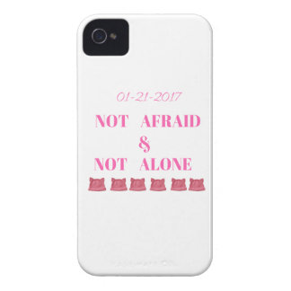 WOMEN'S MARCH NOT ALONE & NOT AFRAID iPhone 4 CASE