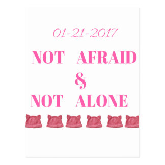 WOMEN'S MARCH NOT ALONE & NOT AFRAID POSTCARD