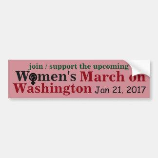 Women's March on Washington Bumper Sticker