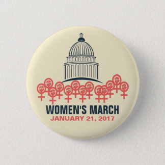 Women's March On Washington Solidarity 6 Cm Round Badge
