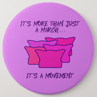 Women's March, Pink Hat, Movement 6 Cm Round Badge