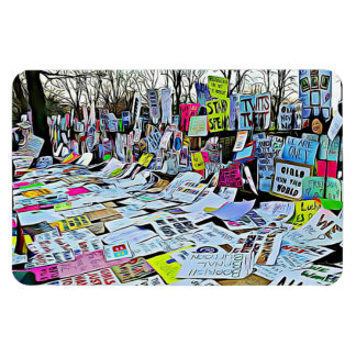 Women's March Protest Signs Magnet