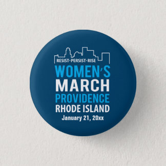 Women's March Providence Rhode Island January 3 Cm Round Badge