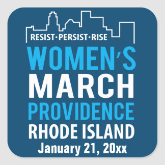 Women's March Providence Rhode Island January Square Sticker
