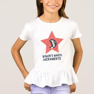 Women's March Sacramento Youth Ruffled T-Shirt