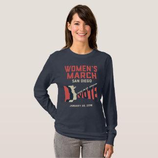 Women's March San Diego Long sleeve T-Shirt