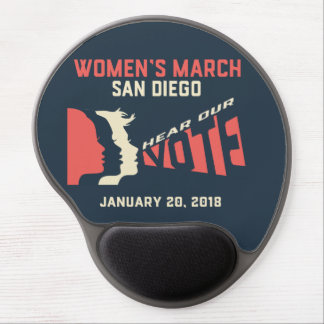 Women's March San Diego Official Gel Mouse Pad