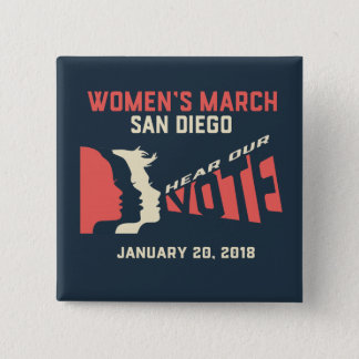 Women's March San Diego Official Square Button