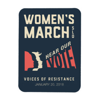 Women's March SLO January Event Magnet