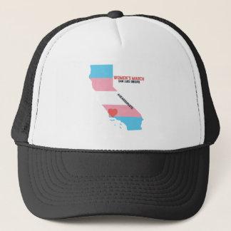 Women's March SLO - Transgender Pride Flag Trucker Hat