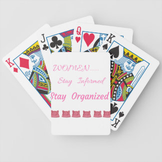 WOMEN'S MARCH STAY INFORMED STAY ORGANIZED BICYCLE PLAYING CARDS