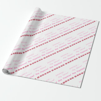 WOMEN'S MARCH STAY INFORMED STAY ORGANIZED WRAPPING PAPER