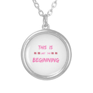 WOMEN'S MARCH  THIS IS JUST THE BEGINNING SILVER PLATED NECKLACE