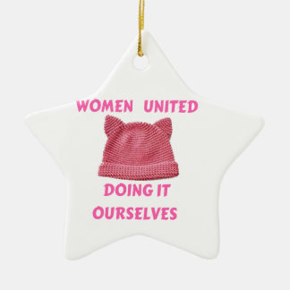 WOMEN'S MARCH UNTIED DOING IT OURSELVES CERAMIC STAR DECORATION